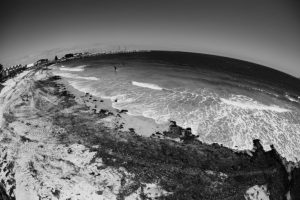 perth beach black and white