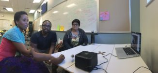 Photo of onsite folks in a hangout