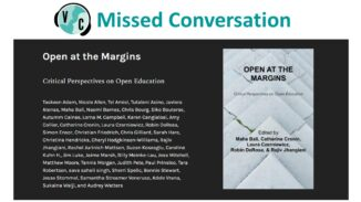 Cover of Open at the Margins Book, announcing missed conversation