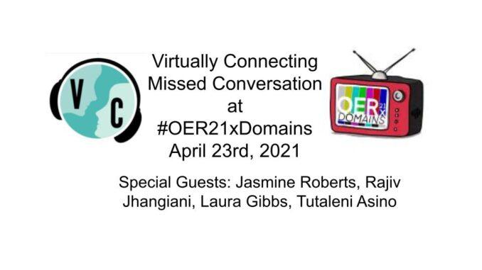 oer21xdomains Missed Conversation announcement